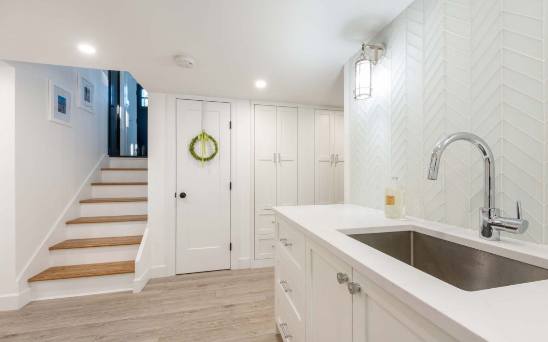 From Blah to Beautiful, a Basement Gets the Full Treatment and Now Looks Glamorous